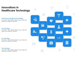 Innovations In Healthcare Technology Ppt Powerpoint Presentation File Designs Download