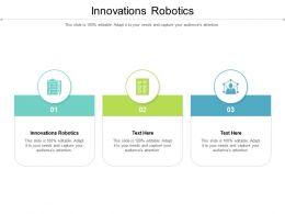 Innovations Robotics Ppt Powerpoint Presentation Slide Cpb