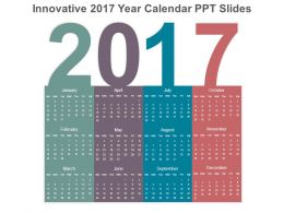 innovative 2017 year calendar ppt slides