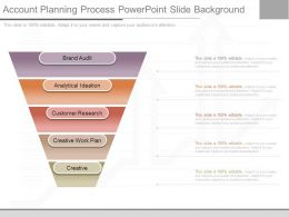 Innovative Account Planning Process Powerpoint Slide Background