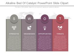 Innovative Alkaline Bed Of Catalyst Powerpoint Slide Clipart