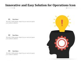 Innovative And Easy Solution For Operations Icon