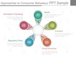 Innovative Approaches To Consumer Behaviour Ppt Sample