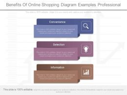 Innovative Benefits Of Online Shopping Diagram Examples Professional