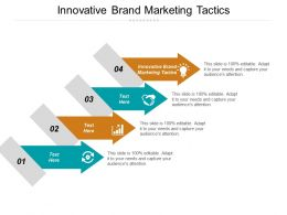 Innovative Brand Marketing Tactics Ppt Powerpoint Presentation Icon Slide Cpb