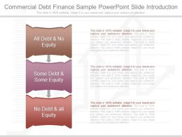 Innovative Commercial Debt Finance Sample Powerpoint Slide Introduction