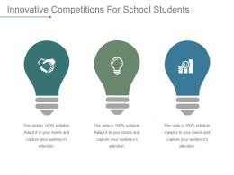 Innovative Competitions For School Students Powerpoint Slide Deck Template