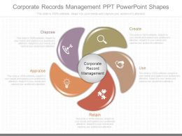 Innovative Corporate Records Management Ppt Powerpoint Shapes