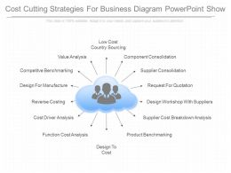 Innovative Cost Cutting Strategies For Business Diagram Powerpoint Show