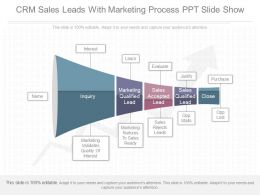 Innovative Crm Sales Leads With Marketing Process Ppt Slide Show
