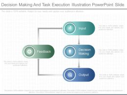 Innovative Decision Making And Task Execution Illustration Powerpoint Slide