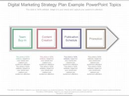 Innovative Digital Marketing Strategy Plan Example Powerpoint Topics