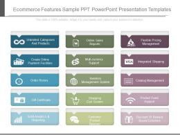 Innovative Ecommerce Features Sample Ppt Powerpoint Presentation Templates