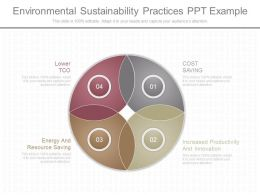 Innovative Environmental Sustainability Practices Ppt Example