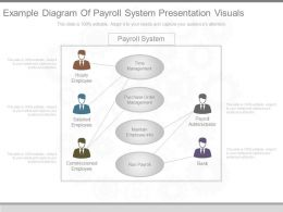 Innovative Example Diagram Of Payroll System Presentation Visuals