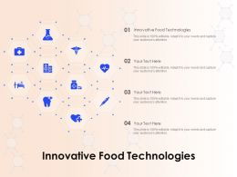 Innovative Food Technologies Ppt Powerpoint Presentation Infographic Template