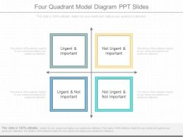 Innovative Four Quadrant Model Diagram Ppt Slides