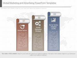 Innovative Global Marketing And Advertising Powerpoint Templates