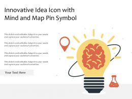 Innovative Idea Icon With Mind And Map Pin Symbol