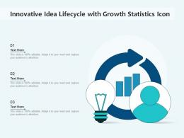 Innovative Idea Lifecycle With Growth Statistics Icon
