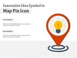 Innovative Idea Symbol In Map Pin Icon
