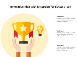 Innovative Idea With Exception For Success Icon