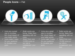 Innovative Ideas Finish Line Carry Globe Ppt Icons Graphics