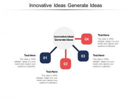 Innovative Ideas Generate Ideas Ppt Powerpoint Presentation File Examples Cpb