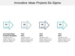 Innovative Ideas Projects Six Sigma Ppt Powerpoint Presentation Slide Cpb