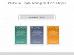 Innovative Intellectual Capital Management Ppt Shapes