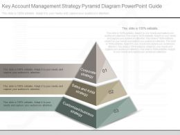 Innovative Key Account Management Strategy Pyramid Diagram Powerpoint Guide