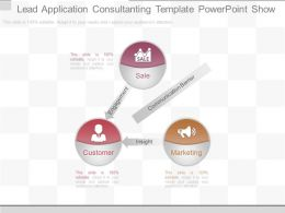 Innovative Lead Application Consultanting Template Powerpoint Show