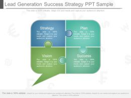 Innovative Lead Generation Success Strategy Ppt Sample