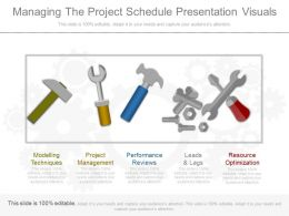 Innovative Managing The Project Schedule Presentation Visuals