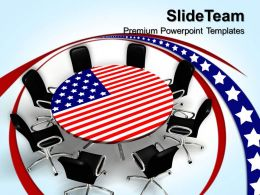 Innovative Marketing Concepts American Round Table Meeting Business Leadership Ppt Theme Powerpoint