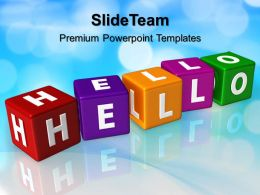 Innovative Marketing Concepts Powerpoint Templates Hello Cubes Shapes Business Ppt Slide