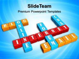 Innovative Marketing Concepts Templates Crossword Internet Leadership Ppt Slide Powerpoint