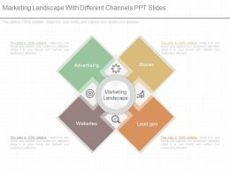 Innovative Marketing Landscape With Different Channels Ppt Slides