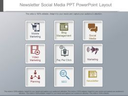 Innovative Newsletter Social Media Ppt Powerpoint Layout