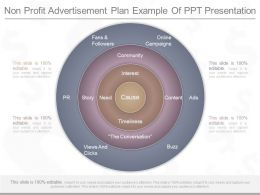 Innovative Non Profit Advertisement Plan Example Of Ppt Presentation