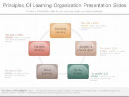 Innovative Principles Of Learning Organization Presentation Slides