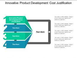 Innovative Product Development Cost Justification Ppt Powerpoint Presentation Design Ideas Cpb