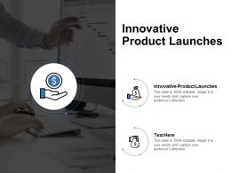 Innovative Product Launches Ppt Powerpoint Presentation Icon Microsoft Cpb