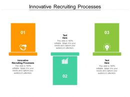Innovative Recruiting Processes Ppt Powerpoint Presentation Summary Layout Cpb