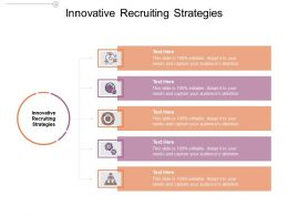 Innovative Recruiting Strategies Ppt Powerpoint Presentation Background Cpb