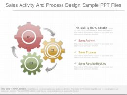 Innovative Sales Activity And Process Design Sample Ppt Files