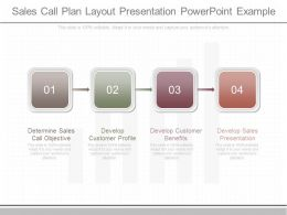 Innovative Sales Call Plan Layout Presentation Powerpoint Example