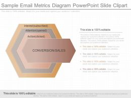 Innovative Sample Email Metrics Diagram Powerpoint Slide Clipart