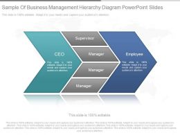 Innovative Sample Of Business Management Hierarchy Diagram Powerpoint Slides