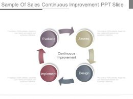 Innovative Sample Of Sales Continuous Improvement Ppt Slide